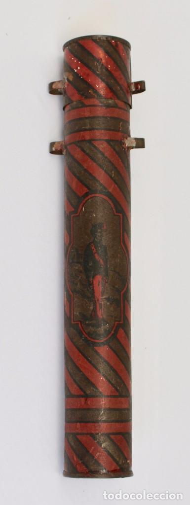Documentos antiguos: BOTE ORIGINAL CON DOCUMENTO, DE LICENCIA ABSOLUTA FECHADO EN 1898. 23 cm bote - Foto 4 - 104792603