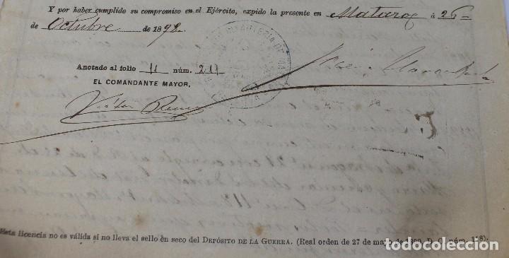 Documentos antiguos: BOTE ORIGINAL CON DOCUMENTO, DE LICENCIA ABSOLUTA FECHADO EN 1898. 23 cm bote - Foto 6 - 104792603