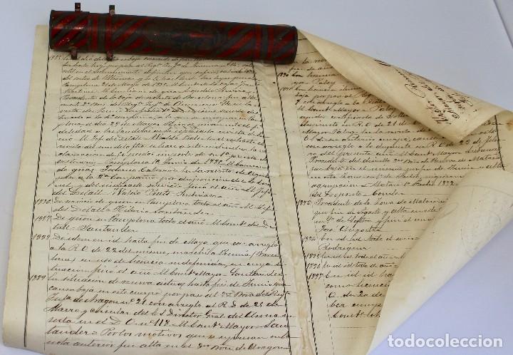 Documentos antiguos: BOTE ORIGINAL CON DOCUMENTO, DE LICENCIA ABSOLUTA FECHADO EN 1898. 23 cm bote - Foto 9 - 104792603