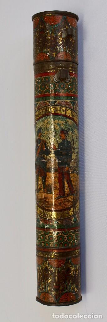 Documentos antiguos: BOTE ORIGINAL CON DOCUMENTO, DE LICENCIA ABSOLUTA FECHADO EN 1874. 2,7 cm bote Y SELLO - Foto 2 - 104793843