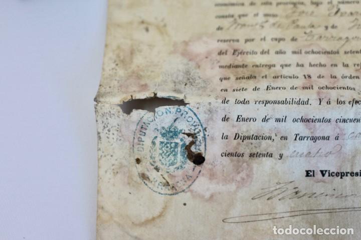 Documentos antiguos: BOTE ORIGINAL CON DOCUMENTO, DE LICENCIA ABSOLUTA FECHADO EN 1874. 2,7 cm bote Y SELLO - Foto 5 - 104793843