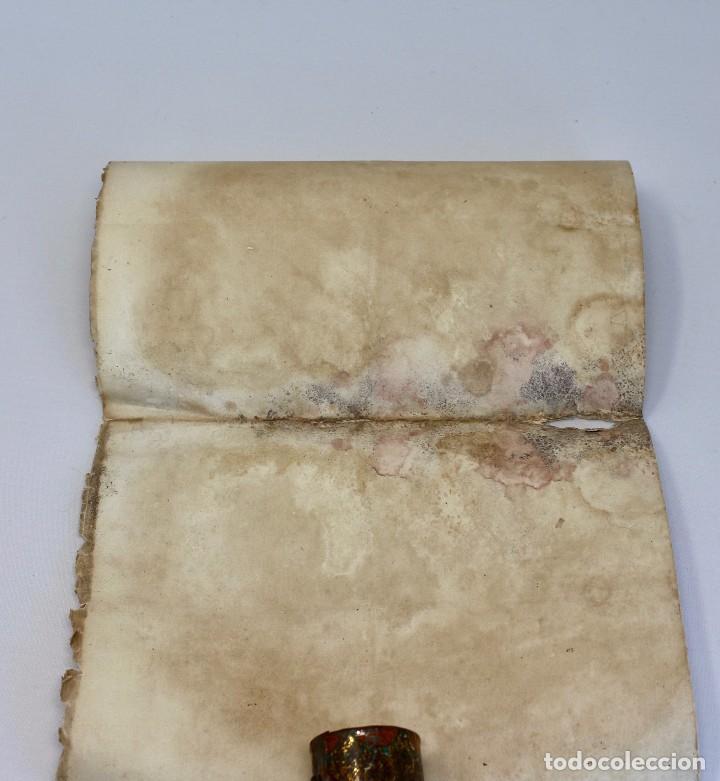 Documentos antiguos: BOTE ORIGINAL CON DOCUMENTO, DE LICENCIA ABSOLUTA FECHADO EN 1874. 2,7 cm bote Y SELLO - Foto 7 - 104793843