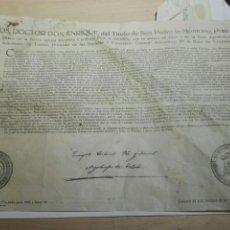Documentos antiguos: DOCUMENTO BULA INDULTO ARZOBISPO DE TOLEDO 1955. Lote 105046307