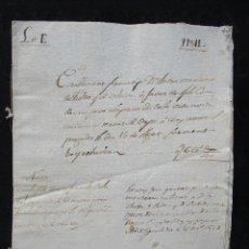Documentos antiguos: DOBLE ESCRITURA AÑO 1785 Y 1841 IGUALADA. Lote 105090859
