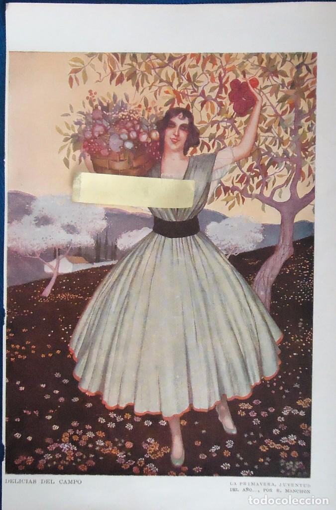 Mujer Manchon Juventud Campo Gravado Vestido Flores Vintage