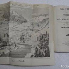 LA PUDA: ESTABLECIMIENTO AGUAS MINERALES SULFUROSAS, ESPARRAGUERA, 1853. GRABADO BALNEARIO