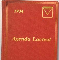 Documentos antiguos: AGENDA LACTEOL 1934. Lote 104880875