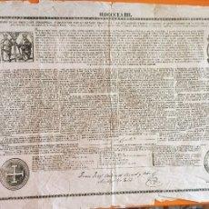 Documentos antiguos: BULA - 1.858- SANTA CRUZADA- JUAN JOSE BONEL Y ORBE- CARDENAL- ARZOBISPO DE TOLEDO. Lote 161614560