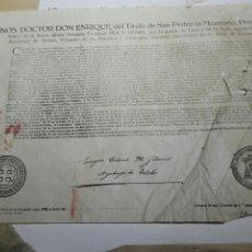 Documentos antiguos: DOCUMENTO BULA . INDULTO. ARZOBISPO TOLEDO 1953. Lote 105380570
