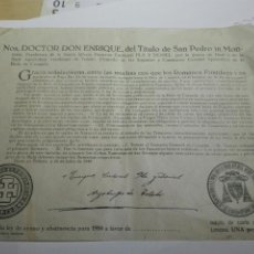 Documentos antiguos: DOCUMENTO BULA AYUNO Y ABSTINENCIA 1950. Lote 105380763