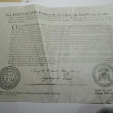 Documentos antiguos: DOCUMENTO BULA AYUNO Y ABSTINENCIA 1952. Lote 105380807