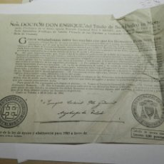 Documentos antiguos: DOCUMENTO BULA AYUNO Y ABSTINENCIA 1955. Lote 105380836