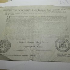 Documentos antiguos: DOCUMENTO BULA AYUNO Y ABSTINENCIA 1952. Lote 105380920