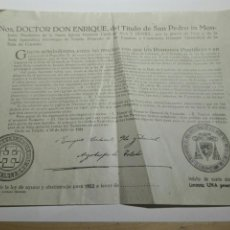 Documentos antiguos: DOCUMENTO BULA AYUNO Y ABSTINENCIA 1952. Lote 105380996