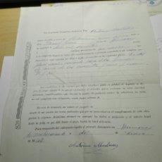 Documentos antiguos: CONTRATO DE VENTA DE ANIMAL DE LABRANZA 1944. Lote 105381223