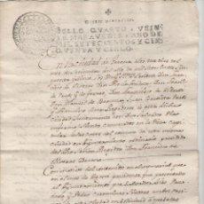Documentos antiguos: NUMULITE A3056 DOCUMENTO AÑO 1755 GERONA GIRONA VECINOS SOLICITAN ADELANTAR PUERTAS DE SUS CASAS. Lote 105455111
