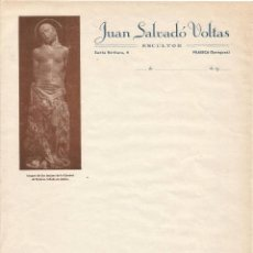 Documentos antiguos: JUAN SALVADO VOLTAS ESCULTOR VILASECA TARRAGONA ANTIGUA FACTURA IMAGEN S LUCIANO CATEDRAL SOLSONA. Lote 105465831