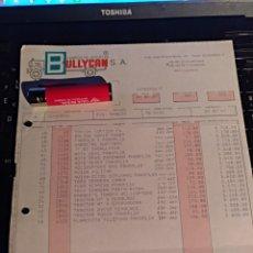 Documentos antiguos: BULLYCAN FACTURA AÑO 87. Lote 105844204