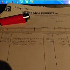 Documentos antiguos: JUGETES BERNABÉU GISBERT AÑO 87. Lote 105845070