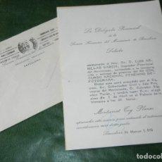 Documentos antiguos: SALUDA INVITACION XII CON.NAC. FOTOGRAFIA - DELEGADA PROV. SECCION FEMENINA BARCELONA 1976. Lote 105898715