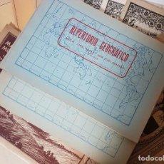 Documentos antiguos: LOTE VARIADO, ALBUM GEOGRÁFICO, MAPAS MUNDO . Lote 106647955