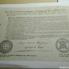 Documentos antiguos: DOCUMENTO BULA AYUNO Y ABSTINENCIA 1955. Lote 106650979