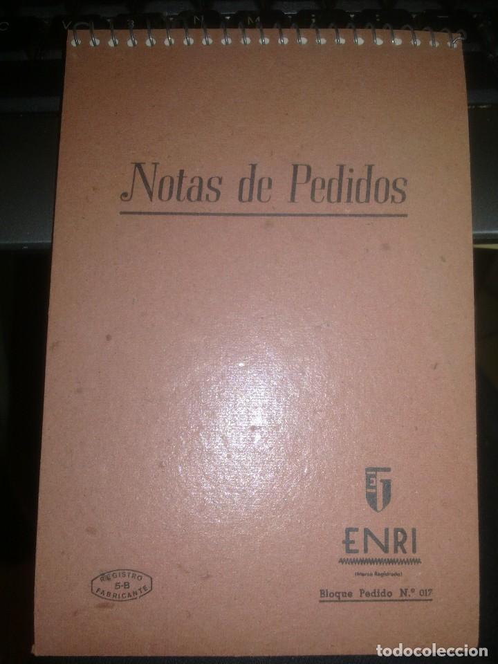 NOTAS DE PEDIDOS. (Coleccionismo - Documentos - Otros documentos)