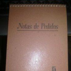 Documentos antiguos: NOTAS DE PEDIDOS.. Lote 106962411