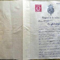 Documentos antiguos: PAGARE A LA ORDEN. 1923. ZARAGOZA. . Lote 107001019