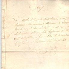 Documentos antiguos: CARTA PAGO OTORGADA POR LA COMUNIDAD DE RELIGIOSAS DEL CONVENTO NTRA. SRA. DE LA ESPERANZA. BILBAO. Lote 107071855