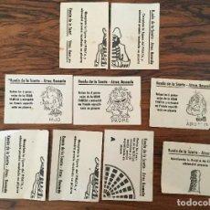 Documentos antiguos: RUEDA DE LA SUERTE. ATRACCIONES VALE ATRACCION ROSENDO. TIPO TOMBOLA.. Lote 107083503