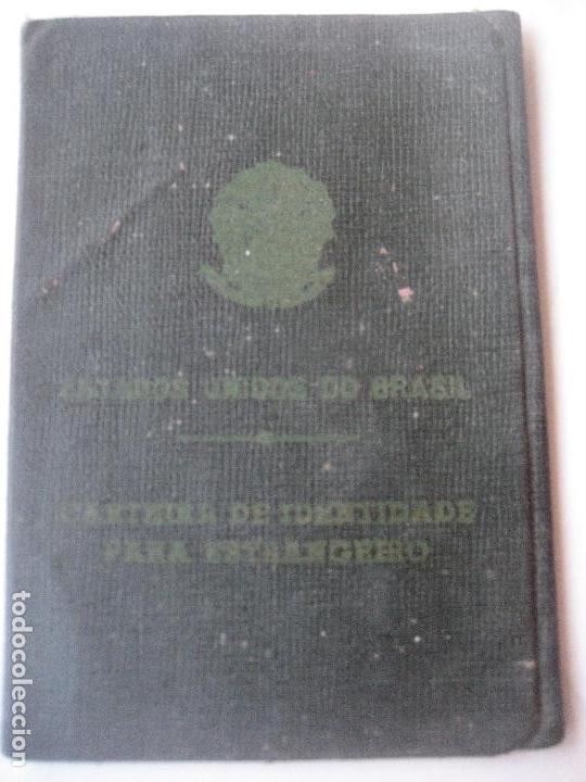 BRASIL. CARTEIRA DE IDENTIDADE PARA ESTRANGERO. CARNET DE IDENTIDAD. 1963 (Coleccionismo - Documentos - Otros documentos)