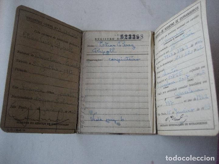 Documentos antiguos: Brasil. Carteira de Identidade para Estrangero. Carnet de Identidad. 1963 - Foto 3 - 107558075