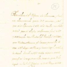 Documentos antiguos: NOMBRAMIENTO DE D. JUAN DE AGRAZ COMO PROMOTOR FISCAL DE LA AUDIENCIA ARZOBISPAL DE TOLEDO. 1754. Lote 193707787