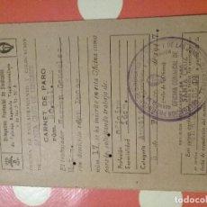 Documentos antiguos: CARNET DE PARO 1947 - DELEGACIÓN PROVINCIAL DE SINDICATOS FALANGE . Lote 107685043