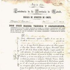 Documentos antigos: RECIBO REGALIA DE APOSENTO DE CORTE. CONTADURIA DE LA PROVINCIA DE MADRID. AÑO 1842. Lote 107973007