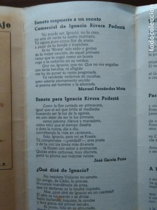 Documentos antiguos: cadiz suplemento antologico torre tavira . poesia , sonetos. gitanilla del carmelo, juan mena. leer - Foto 4 - 108047063