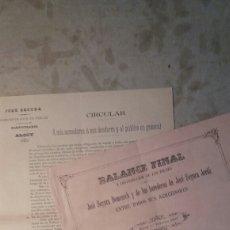Documentos antiguos: ALCOY 1° FEBRERO 1896.. Lote 108265218