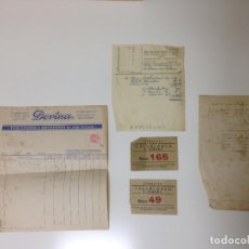 Documentos antiguos: LOTE DOCUMENTOS PAPEL FARMCIA COLLBLANCH-TERRASSA BARCELONA /HOSPITALET. Lote 108266287