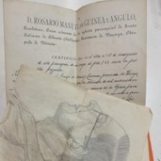 Documentos antiguos: GALLARTA CERTIFICADO DE BAUTISMO AÑO 1911. Lote 108475971