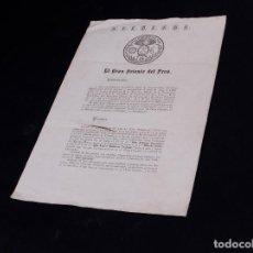 Documents Anciens: MASONES DEL GRAN ORIENTE DE PERU 1870. Lote 108791795