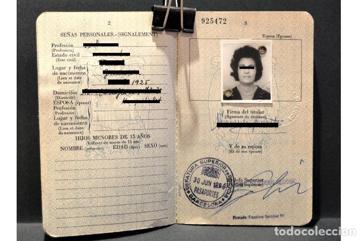 Documentos antiguos: DOCUMENTACIÓN PASAPORTE ESPAÑA 1966 - Foto 3 - 108909639