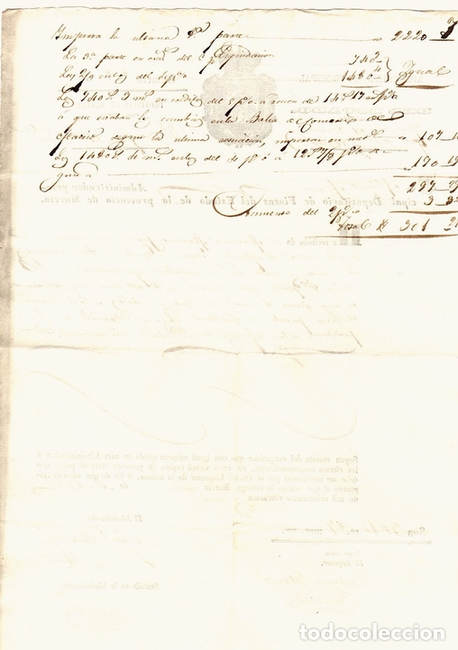 Documentos antiguos: CARTA DE PAGO ADMINISTRACION PRINCIPAL DE FINCAS DEL ESTADO. PROVINCIA DE MURCIA, AÑO 1851 - Foto 2 - 108982780