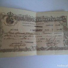 Documentos antiguos: CEDULA PERSONAL 1930. Lote 109016523