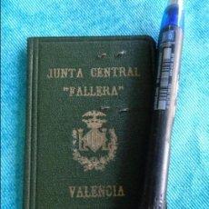 Documentos antiguos: BONITO Y RARO CARNET DE 1954 DE LA JUNTA CENTRAL FALLERA VALENCIA - FALLAS. Lote 109096315