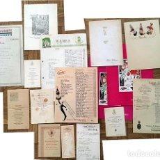 Documentos antiguos: CONJUNTO DE 16 MENÚS DE DISTINTAS ÉPOCAS (DESDE 1900 Á 1950) 2 CON AUTÓGRAFOS . Lote 109257059