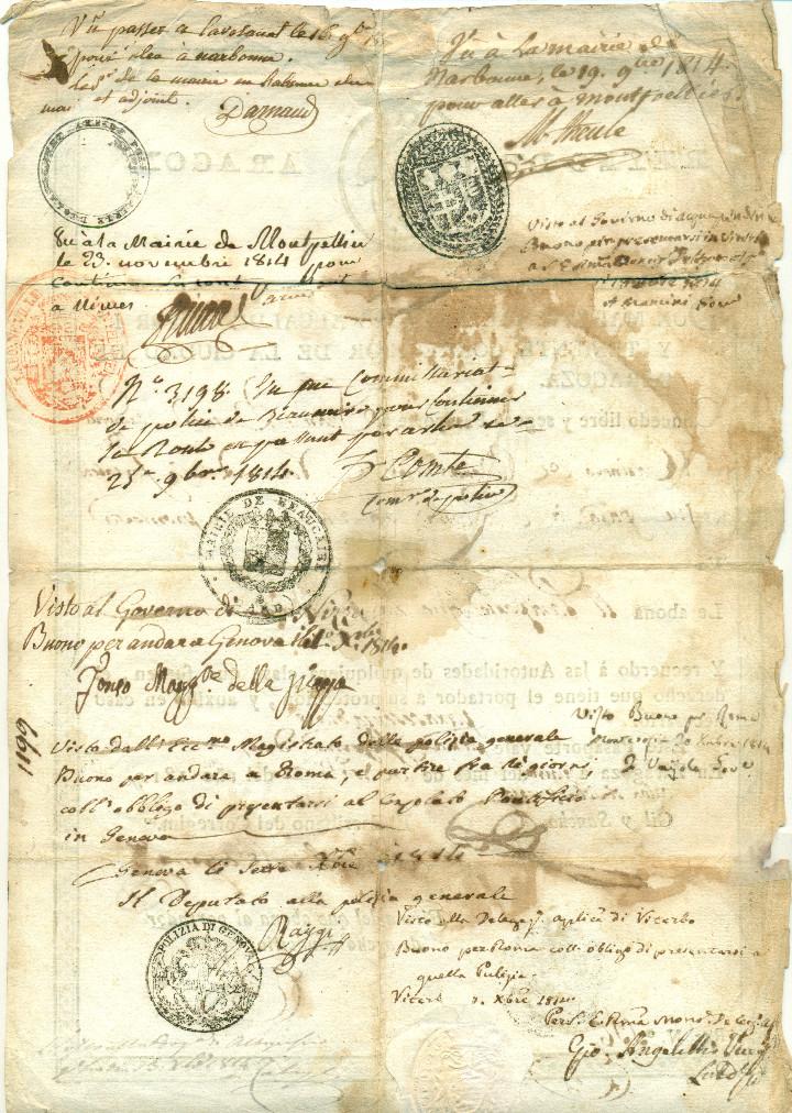 Documentos antiguos: ZARAGOZA GUERRA INDEPENDENCIA PASAPORTE EXPEDIDO POR ALCALDE MARIANO GIL Y SANCHO.AÑO 1814. MUY RARO - Foto 2 - 109489111