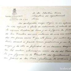 Documentos antiguos: CARTA A MANO ORIGINAL 1955 REGIMIENTO INFANTERIA JAEN 25, CORONEL, BARCELONA. Lote 109537711