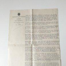 Documentos antiguos: DOCUMENTO ORIGINAL 1954 ESCRITA POR EL DELEGADO DE HACIENDA, RELATIVA A PRESUPUESTOS. Lote 109537851
