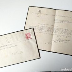 Documentos antiguos: SOBRE CIRCULADO+CARTA FIRMADA ORIGINAL 1955, SECCION PROVINCIAL ADMINISTRACION LOCAL BALEARES, JEFAT. Lote 109537915